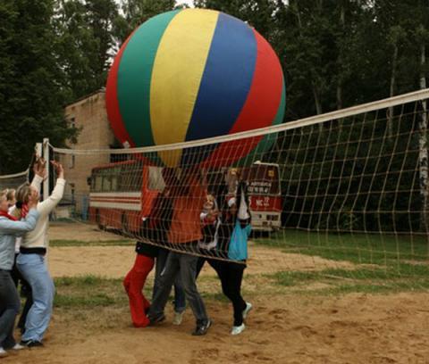 Фото Сетка волейбольная со стойками