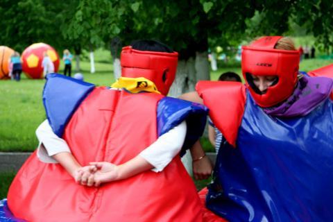 Фото Борьба сумо на татами