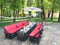 Фото Комплект Loft мебели + зонт (12 человек)